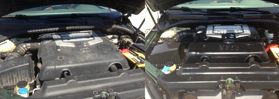 Detailing Inside Car Engine